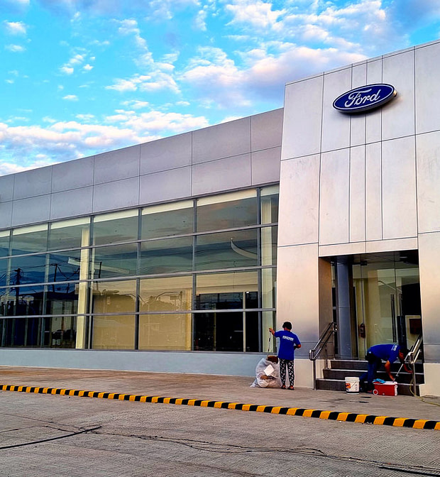 Ford Showroom Construction Cleaning by Bridges Optimum Clean